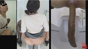 3_1女と目が合うウンコトイレ2 ~出したウンコを見られた女~