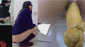 1_3女と目が合うウンコトイレ2 ~出したウンコを見られた女~