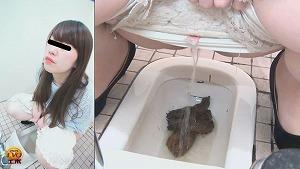 2_4盗視4カメトイレ 紅いリップの女子いきみ顔うんこ