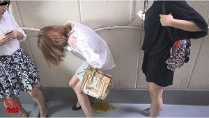 1_1トイレ前行列中 うんこ漏らし女!2